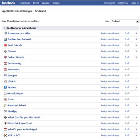 Rensa upp din facebook