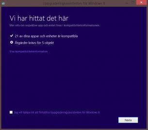 Uppgradera till Windows 8