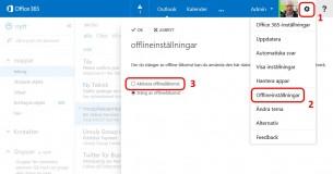 Aktivera Offline-läge till din OWA
