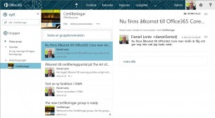 Diskutera i grupper i Office 365