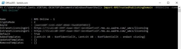 enable-irm-powershell-result