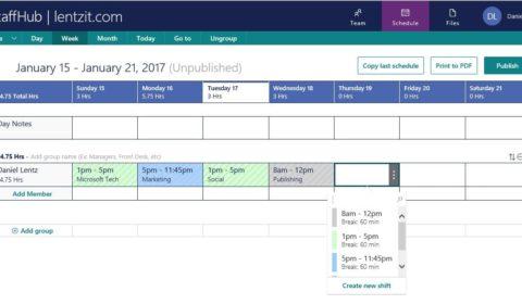 Staffhub – schemaläggning utan dator